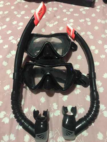 Careta Y Snorkel Ecology Modelo Tiburon Dos Sets
