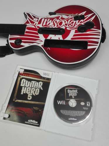 Guitar Hero 5 Para Nintendo Wii Con Guitarra Ofertazo!