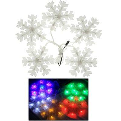 Luz Decorativa Navidad Copo Nieve 5x 7-led Forma Led D4gb