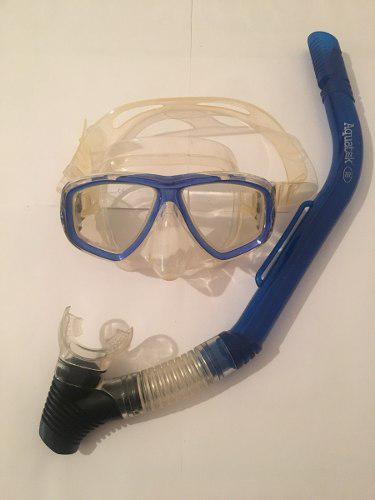 Máscara De Buceo Gafas Snorkel Set Equipo Lentes De Agua