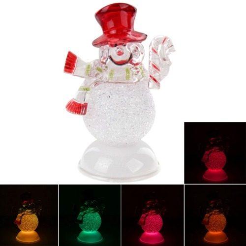 Para Navidad Decoracion Muñeco Flash Color Luz Led Dbxj