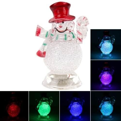 Para Navidad Decoracion Muñeco Nieve Pequeño Flash Dbxk