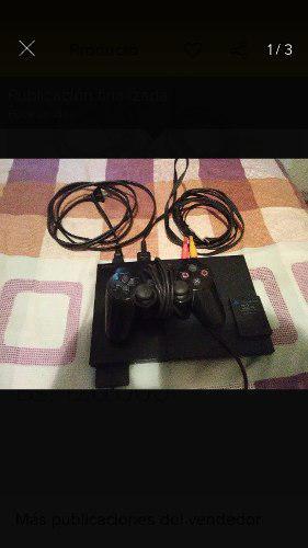 Play Station 2 Chipiado Con 1 Control Y Memory Card De 32mb