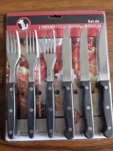 Set De Cuchillos Y Tenedores Parrilleros