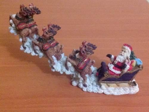 Trineo De Santa Claus En Miniatura Adorno Navidad