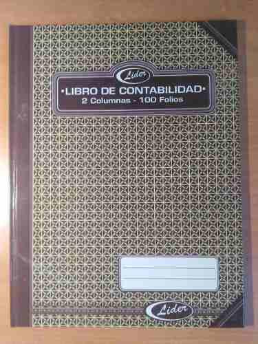 Libro De Contabilidad - 2 Columnas - 100 Folios Marca Líder