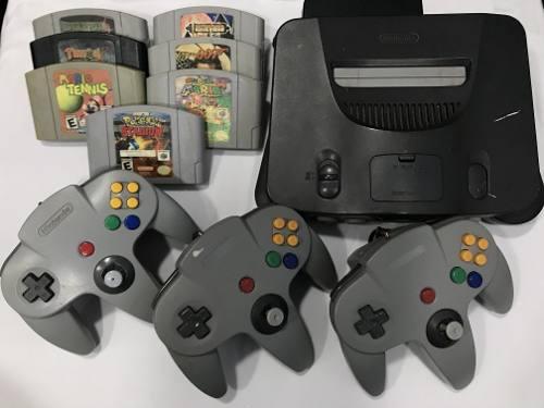 Nintendo 64 (90) 2 Controles 7 Juegos Tienda Fisica Chacao