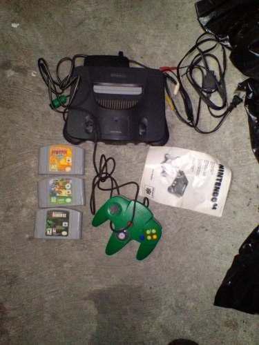 Nintendo 64 Con 1 Control Y 3 Juegos