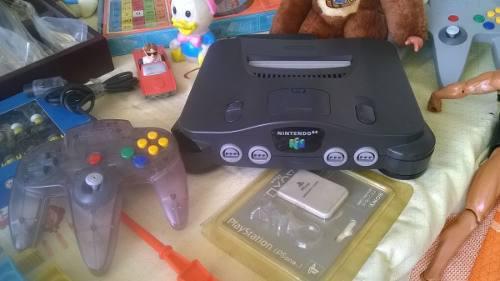 Nintendo 64, Con Cables Y 2 Controles. Juego Opcional