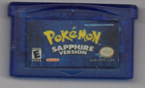 Pokémon Sapphire Version. Game Boy Advance.juego Original