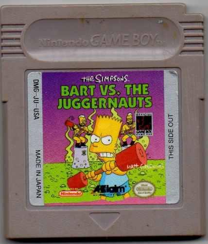 The Simpson Bart Vs The Juggernauts.video Juego Original Us