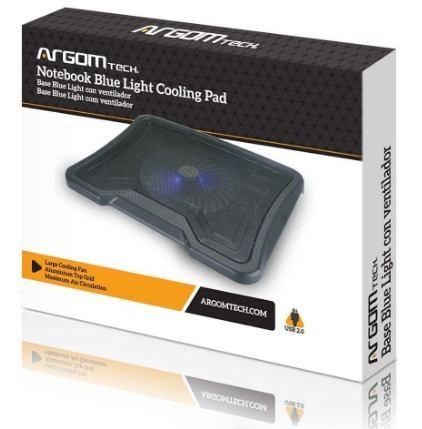 Base Para Laptop Argom 1 Ventilador 2 Puertos Usb 2.0