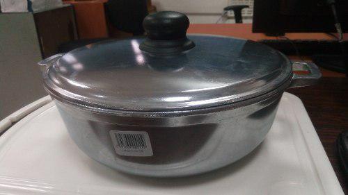 Caldero Aluminio Fuerte Pulido Primula 24 Cm Con Tapa
