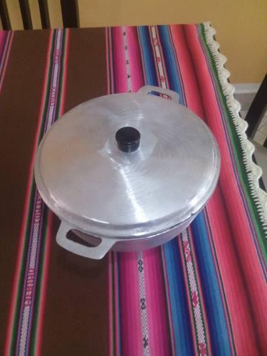 Caldero De Aluminio #5 Con Tapa Nuevos!!!