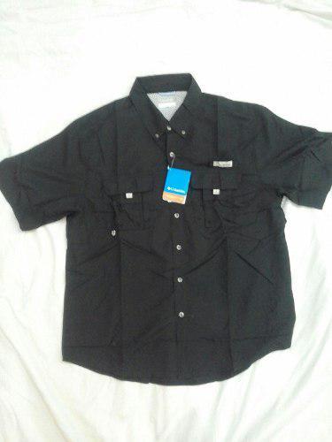 Camisa Columbia Xl Caballero Color Negro