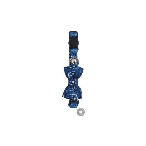 Collar Para Gato Ajustable De Nylon Color Azul 20