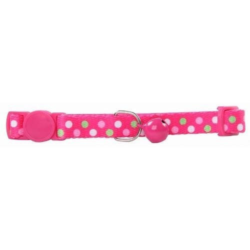 Collar Para Gato Ajustable De Nylon Color Rosa 20