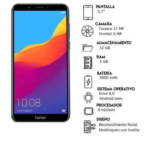 Huawei Honor 7a, 3gb, 32 Gb. *155vd* Tienda Física +vidrio