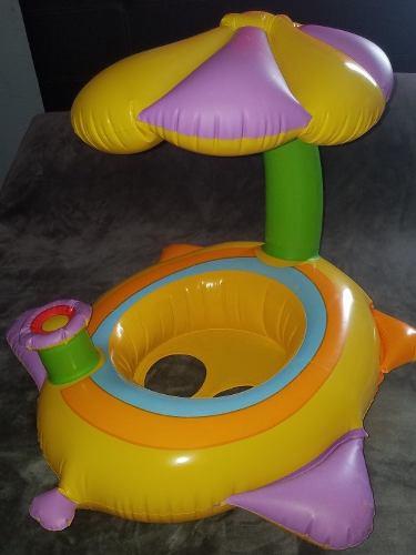 Inflable Para Bebé Con Techo De Palmera