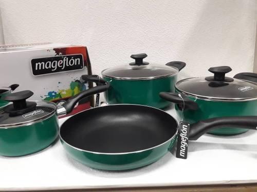 Juego De Ollas Magefesa Mageflon Colore 7 Pz (nuevo)