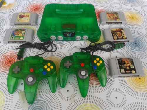 Nintendo 64 Edicion Especial 5 Juegos 2 Controles Impecable