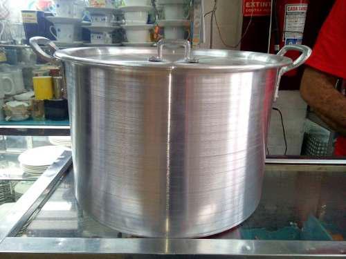 Olla Mondonguera De Aluminio Fuerte De 30 Litros 30 Verdes