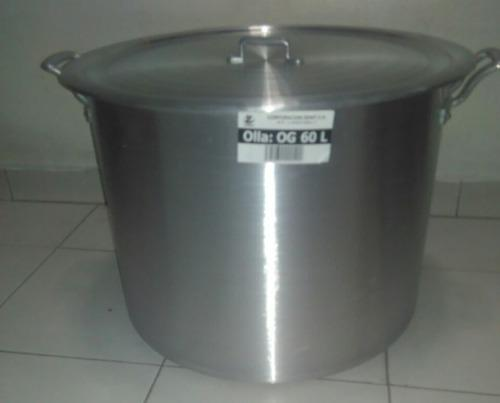 Olla Sancochera Mondonguera De Aluminio De 60 Lts