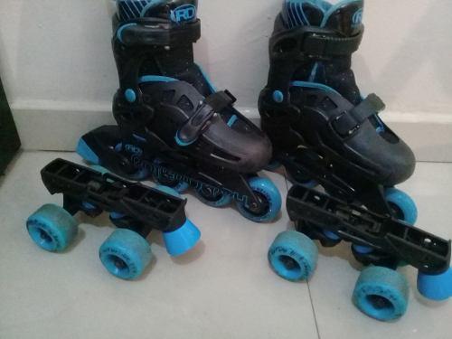 Patines Roller Derby 4 Ruedas Y En Linea Ajustables