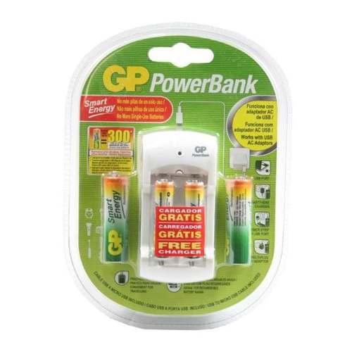 Pilas Recargables Gp Con Baterias Aa Y Aaa Y Cargador