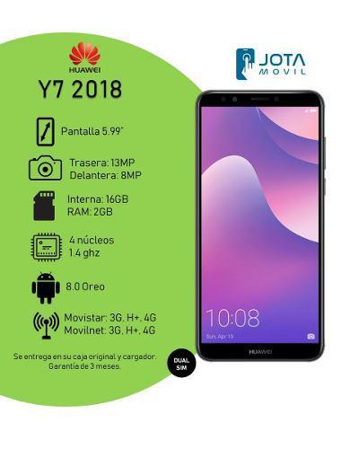 Telefono Huawei Y7 2018 16gb Interna 2gb Ram 13mpx + 8mpx