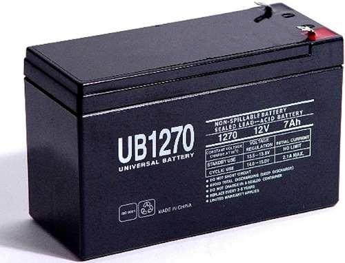 Batería 12 Voltios 7 Amperios Ups Lámpara Emergencia