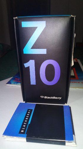 Caja Usada Para Blackberry Z10 Incluye Su Manual De Usuario