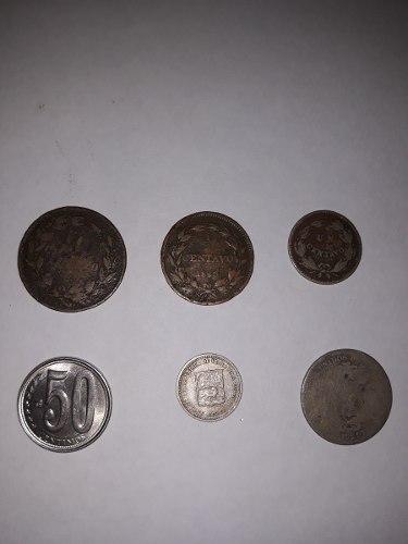 Combo Monedas 1/2 Y 1 Centavo De Monaguero Y De Platas