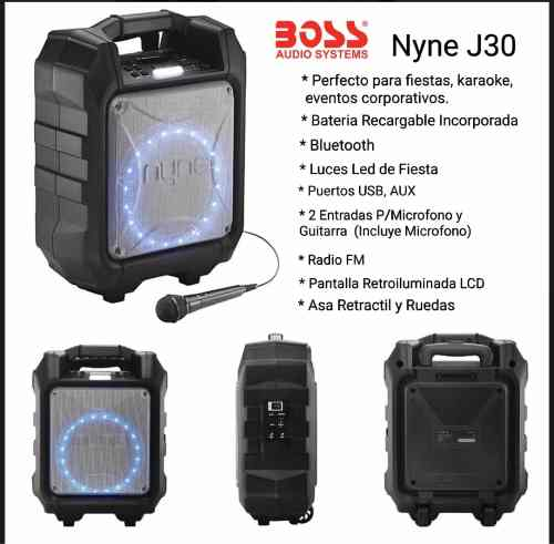 Corneta Amplificada Portatil Recargable Nyne J30 By Boss
