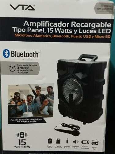 Corneta Amplificada Recargable Portatil Bluetooth Vta