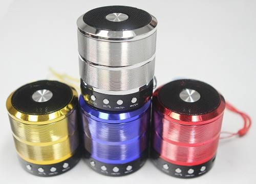 Corneta Mini Speaker Ws-887 Bluetooh Usb Aux Msd Nuevo!