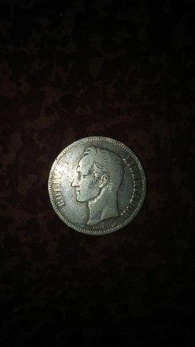 Fuerte De Plata Lei  Grs 5 Bolívares Año  Moneda