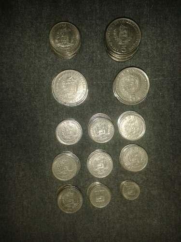 Lote De Monedas De Niquel Del Año  Al Año