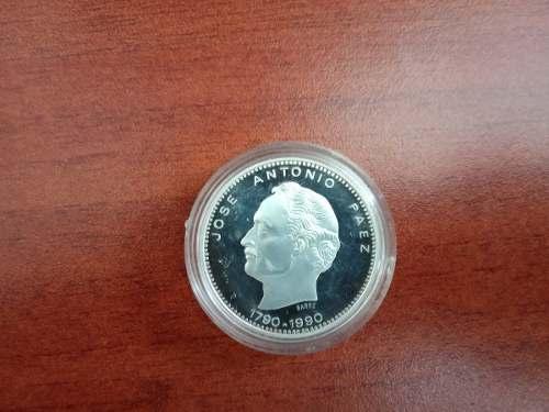 Moneda Conmemorativa De Plata Jose A.paez Plata Ley 900