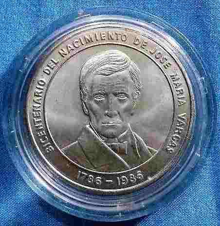 Moneda Conmemorativa Del Bicentenario De Jose Maria Vargas