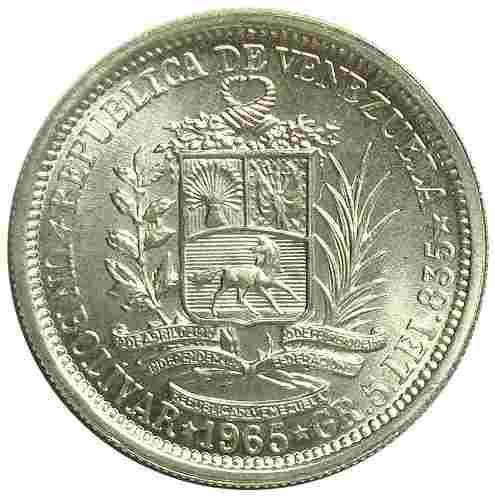 Moneda De Plata 1 Bolivar De