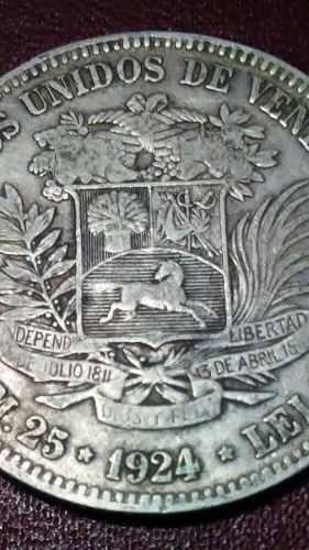Moneda De Plata 5 Bolivares  Fuerte En Grado (Vf)
