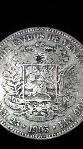 Moneda De Plata 5 Bolívares  (fuerte).