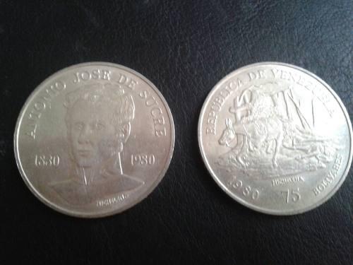 Moneda De Plata Antonio Jose De Sucre