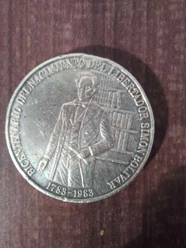 Moneda De Plata Bicentenario Del Libertador Colección