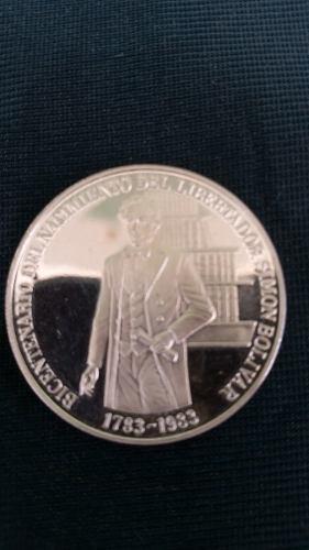 Moneda De Plata Coleccionable Bicentenario Simon Bolivar