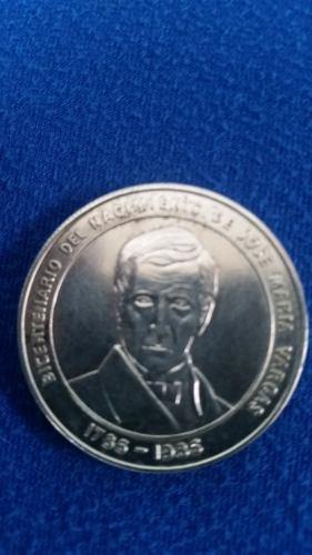 Moneda De Plata Coleccionable Bicentenario Vargas