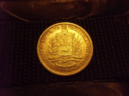 Moneda De Plata De 2 Bolivares Año  Gr Plata Lei 835