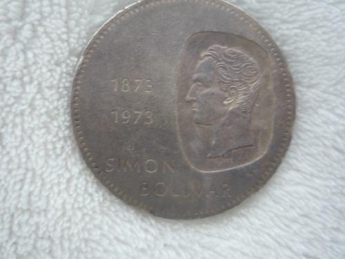 Moneda De Plata Doblón Simón Bolivar