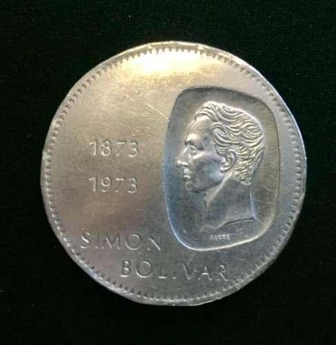 Moneda De Plata Doblón Simon Bolivar